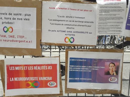 Action contre la Conférence Autisme Sorbonne et Sesame Autisme